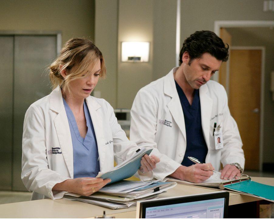 Meredith (Ellen Pompeo, l.) und Derek (Patrick Dempsey, r.) sprechen mit Greta, einer Patientin, die einen aggressiven Gehirntumor hat, sich jedoch... - Bildquelle: Touchstone Television