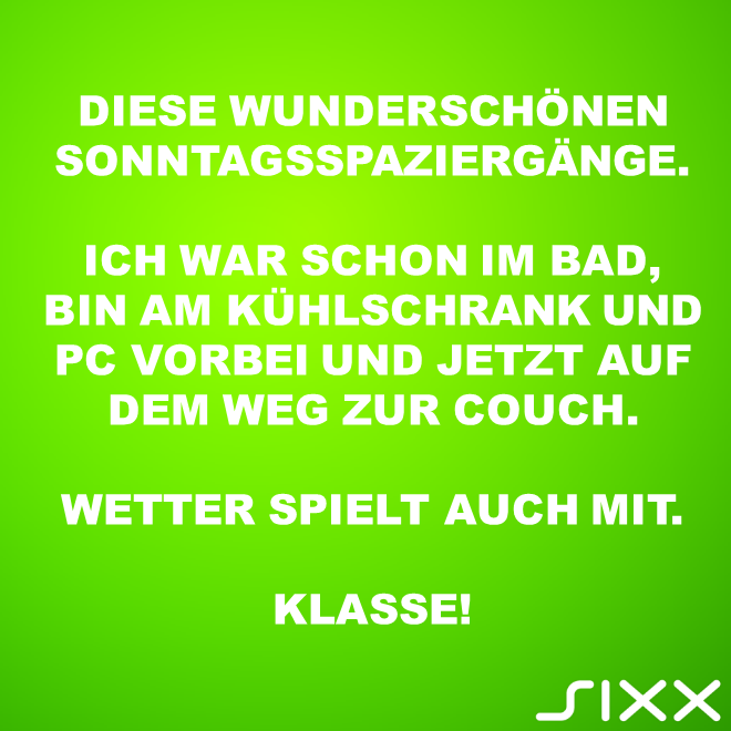 Visual Statements: Sonntagsspatziergang - Bildquelle: sixx