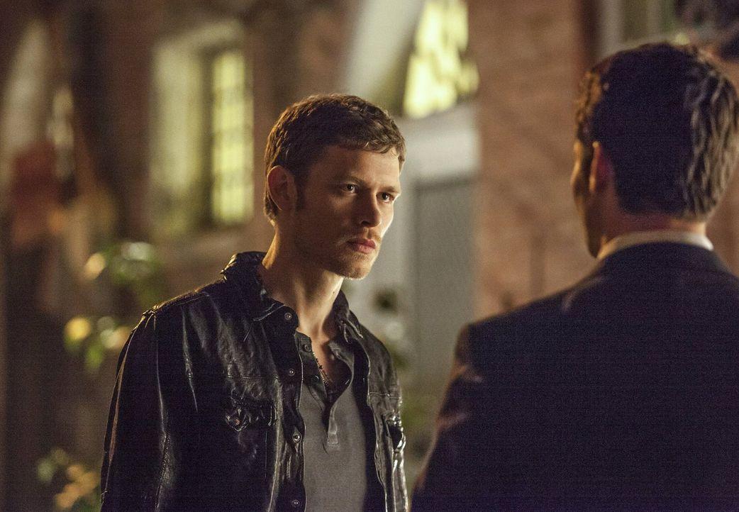 Klaus (Joseph Morgan, l.) hat eine neue Mission. New Orleans soll nicht mehr unter der Kontrolle von dem Vampir Marcel stehen. Klaus' früherer Schüt... - Bildquelle: Warner Brothers