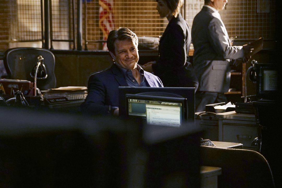 Zu ihrem ersten Hochzeitstag denkt sich Castle (Nathan Fillion) eine ganz besondere Überraschung für Beckett aus ... - Bildquelle: Richard Cartwright 2015 American Broadcasting Companies, Inc. All rights reserved.