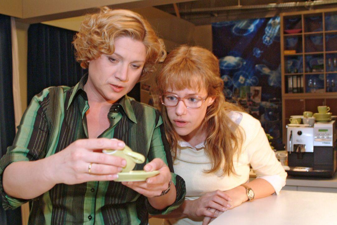 Agnes (Susanne Szell, l.) liest im Kaffeesatz, dass Lisa (Alexandra Neldel, r.) bald eine Begegnung mit einem jungen Mann haben wird ... (Dieses Fot... - Bildquelle: Monika Schürle SAT.1 / Monika Schürle