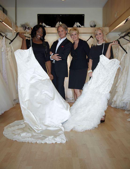 """(v.l.n.r.) Flori Waters, Monte Durham, Lori Allen und Robin Gibbs in """"Mein perfektes Hochzeitskleid! - Atlanta"""". - Bildquelle: TLC & Discovery Communications"""