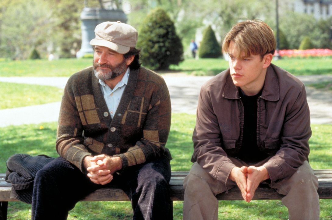 Sean McGuire (Robin Williams, l.); Will Hunting (Matt Damon, r,) - Bildquelle: Paramount Pictures and Miramax. All Rights Reserved.