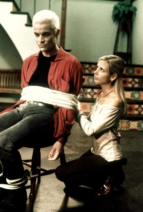 Buffy (Sarah Michelle Gellar, r.) hat Spike (James Marsters, l.) unschädlich gemacht ... - Bildquelle: TM +   2000 Twentieth Century Fox Film Corporation. All Rights Reserved.